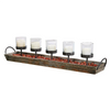 METAL & WOOD VOTIVE HOLDER