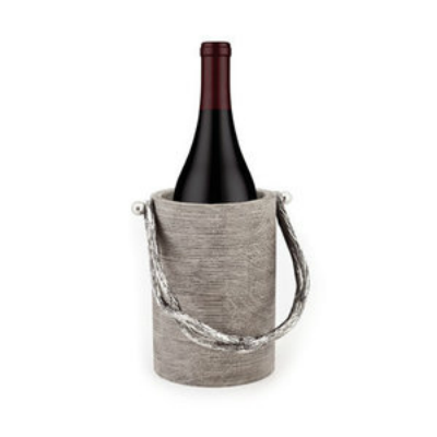 WEATHERED WOOD WINE BOTTLE CADDY
