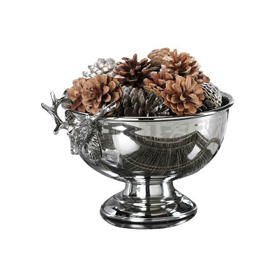 NICKEL REINDEER BOWL