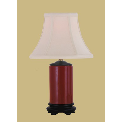 OXBLOOD PENCIL JAR LAMP