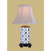 BLUE & WHITE DIAMOND PENCIL LAMP