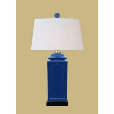 NAVY BLUE SQUARE JAR LAMP