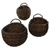 ROUND WILLOW WALL BASKET SM