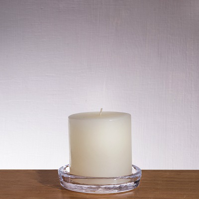 SIMON PEARCE WOODBURY CANDLE COASTER