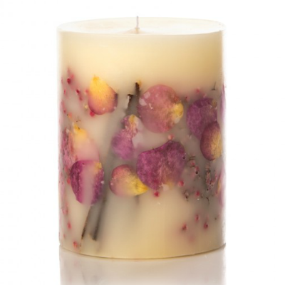 ROSY RINGS APRICOT ROSE PILLAR CANDLE