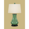 CELEDON OVAL LAMP
