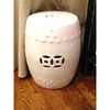WHITE PORCELAIN GARDEN STOOL // REGISTERED FOR 2