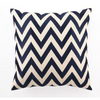 NAVY CHEVRON EMBROIDERED PILLOW