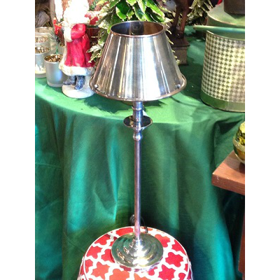 NICKEL CANDLESTICK LAMP