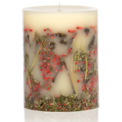 ROSY RINGS RED CURRANT & CRANBERRY PILLAR CANDLE