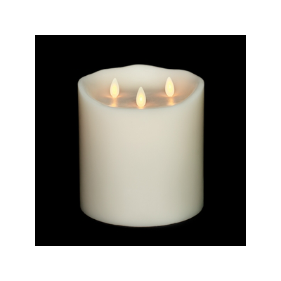 LIOWN MOVING FLAME TRI FLAME PILLAR CANDLES
