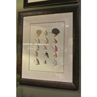 TROUT FLIES II FRAMED ART