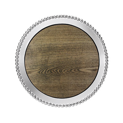 MARIPOSA PEARL & DRIFTWOOD ROUND CHEESE BOARD