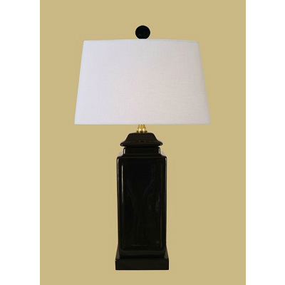 BLACK SQUARE JAR LAMP