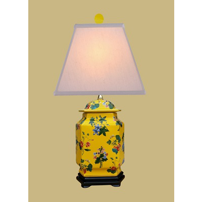 YELLOW FLORAL LAMP