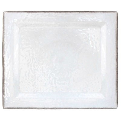 RUSTICA WHITE MELAMINE CHARGER TRAY