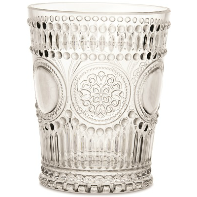 ARABESQUE CLEAR POLYCARB WATER GLASS