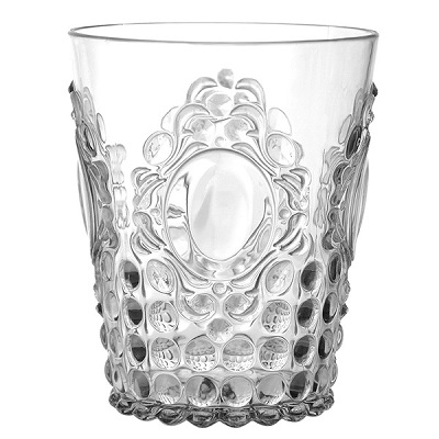 BAROQUE POLYCARB WATER GLASS