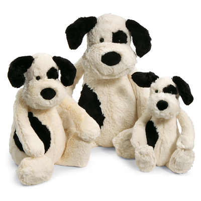 BASHFUL PUPPY BLACK & CREAM