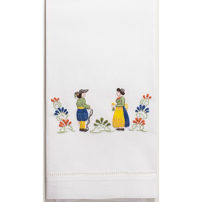 QUIMPER EMBROIDERED GUEST TOWEL // REGISTERED FOR 2