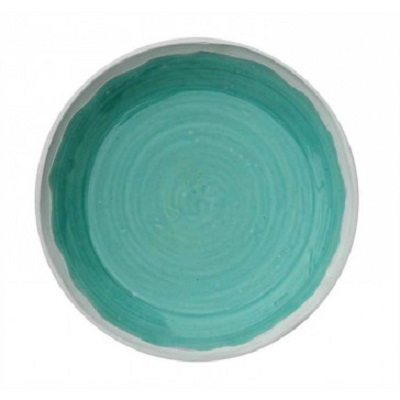DECORATIVE TERRA COTTA TURQUOISE BOWL