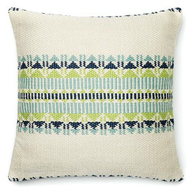GREEN & NAVY INDOOR/OUTDOOR PILLOW
