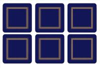 CLASSIC PIMPERNEL MIDNIGHT BLUE COASTERS // SET OF 6 // REGISTERED FOR 2 SETS