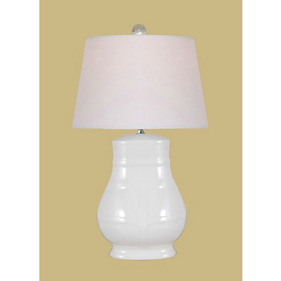 WHITE OVAL LAMP