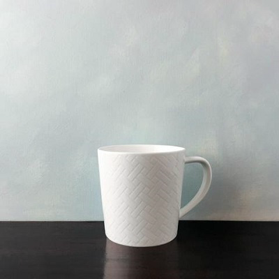 CASKATA WHITE WICKER MUG // REGISTERED FOR 8