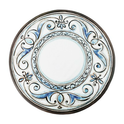 FLEUR DE LIS MELAMINE DINNER PLATE // REGISTERED FOR 4