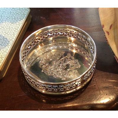 SILVER RENAISSANCE ROUND TRAY