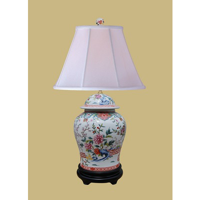FLORAL TEMPLE JAR LAMP