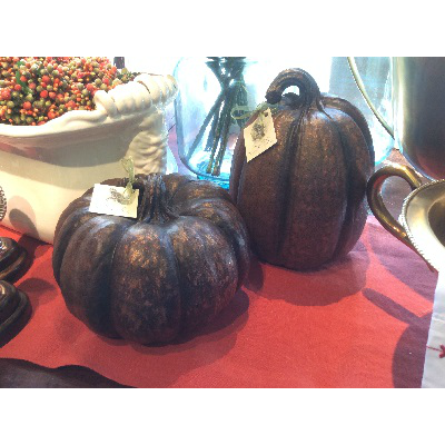 COPPER RESIN PUMPKINS // SM & LG