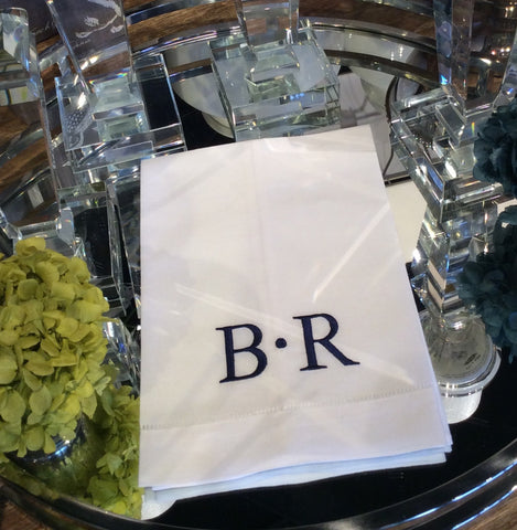 GUEST TOWELS MONOGRAMMED // REGISTERED FOR 8//FULLFILLED