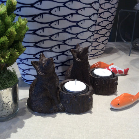 FOX TEALIGHT CANDLE HOLDERS // REGISTERED FOR 2