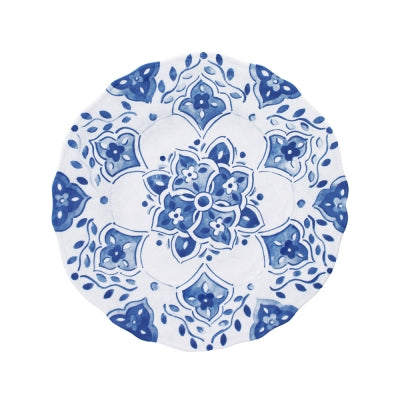 MOROCCAN BLUE SALAD PLATE  // REGISTERED FOR 8 PLATES// Needs 2 to More to Fulfill