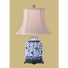 BLUE & WHITE FLORAL TEA JAR LAMP