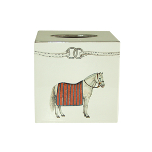DEVON EQUESTRIAN TISSUE BOX