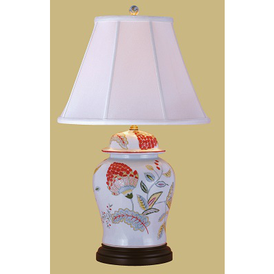 FLORAL LOTUS TEMPLE JAR LAMP