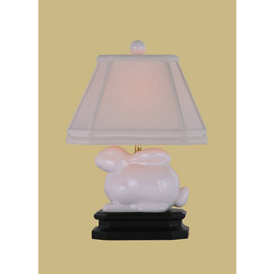 WHITE PORCELAIN BUNNY LAMP