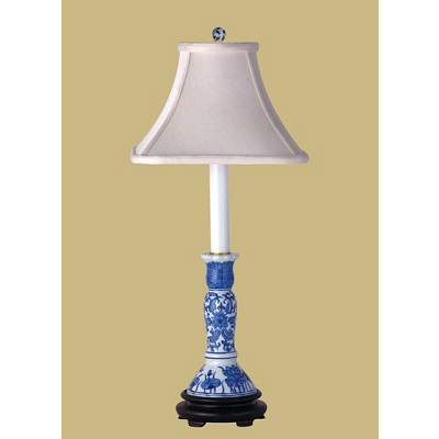 BLUE & WHITE CANDLESTICK LAMP