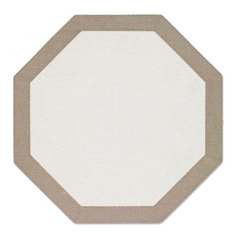 Bordino Octagon Place-mats //  Registered for 2-SETS of 6 // Registry Fulfilled.