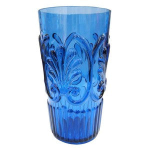 BLUE POLYCARB ICED TEA GLASS