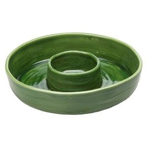 LES MOULIN GREEN CHIP & DIP SERVING PLATTER