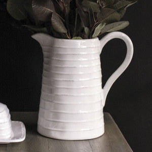 DOLOMITE WHITE PITCHER