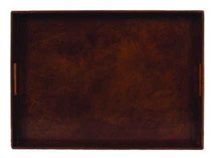 TOBACCO LEATHER TRAY