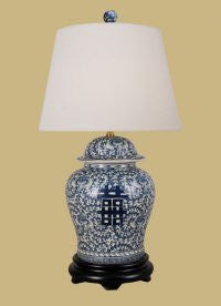 BLUE AND WHITE HAPPINESS LAMP