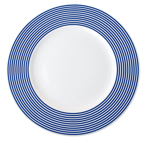 Caskata Blue& White Stripe Charger  // 8 Purchased // Needs 4 to Fulfill Registry