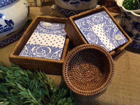 RATTAN HOSTESS SET