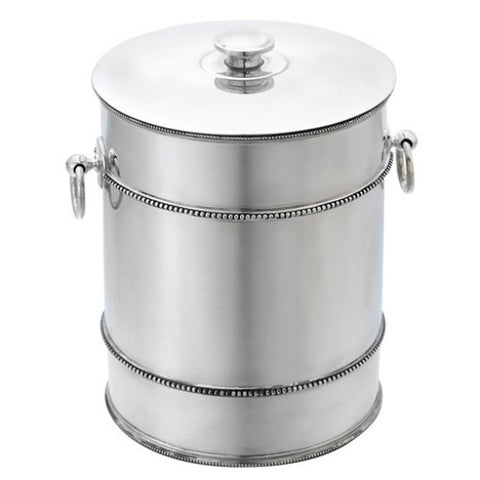 Banded Ice Bucket Silver